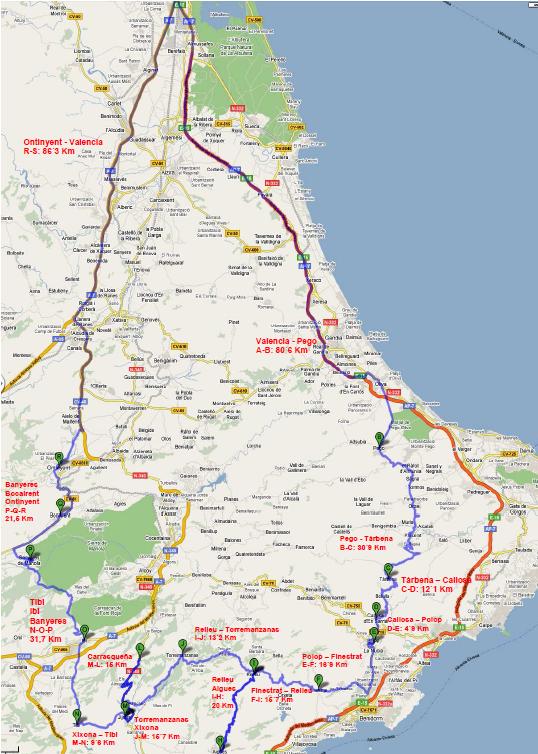 RUTA DE LES SERPS – 370 Km +/-