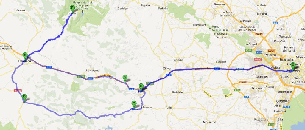 RUTA CHERA GP – 200 KM +/-