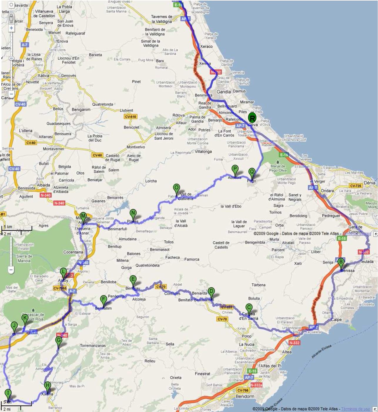 RUTA RODRIGUEZ – 405 Km +/-