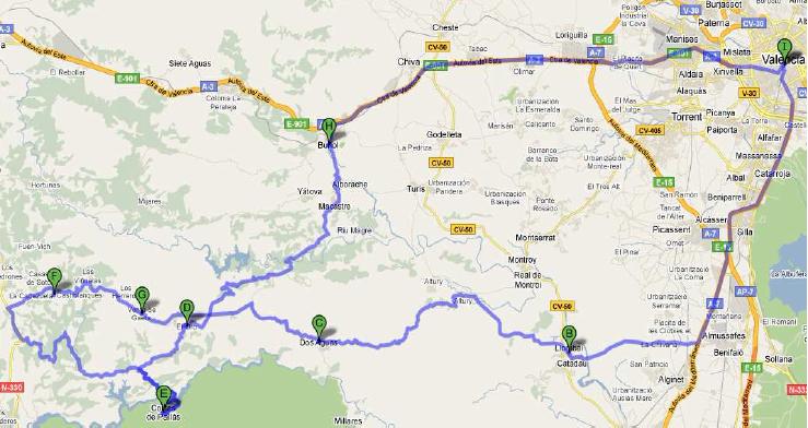 RUTA EL ORO = 195 Km +/-