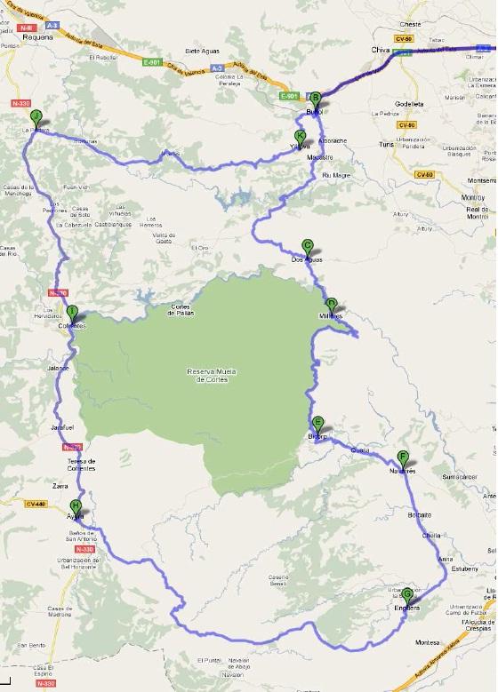 RUTA EBASTEL – 300 KM +/-
