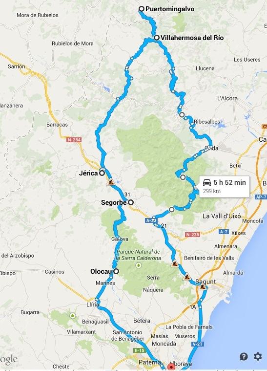 RUTA SAN BARTOLOMÉ – 300 KM +/-